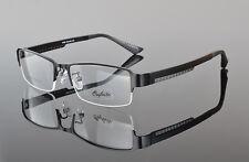 Mens Sporty Half Rimless Eyeglasses Frames RX Spectacles Glasses Lightweight Black