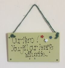 OUR HERO! Handcrafted Plaque. FILL HEARTS WITH PRIDE. Cath Kidston. Forces. nhs