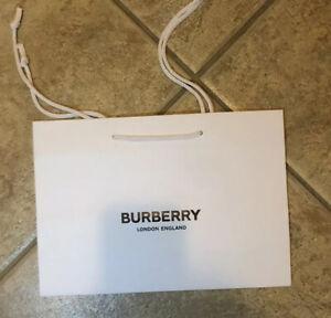 "BURBERRY MEDIUM SHOPPING PAPER GIFT WHITE BAG NEW 12"" x 8"" x 3.5"""