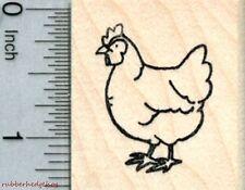 Hen Rubber Stamp, Chicken D30906 WM
