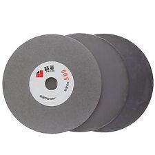 "3Pcs 4"" inch Grit 400 2000 3000 Diamond Grinding Disc Wheels Flat Lap Disk Stone"