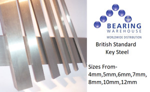 British Standard Metric Key Steel Square Bar Keyway 4mm,5mm.6mm,7mm,8mm,10mm,12m