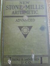 VINTAGE,  1924, NEW STOBE MILLIS ARITHMETIC ADVANCED BOOK