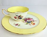 Vintage Hammersley & Co Bone China Cabbage Rose Floral Tea Cup & Lg Saucer/Plate