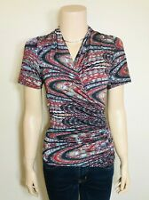 FOUR GIRLZ Gathered Patterned Top - Size S - Stretch