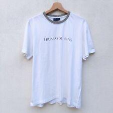 T shirt TRUSSARDI Jeans Uomo Maglia Manica Corta Girocollo Taglia XL Bianco