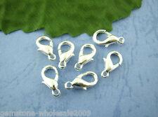 50PCS Wholesale Mixed Lots Silver Plated Lobster Parrot Clasps 14x7mm GW