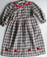New  New Ding Dong long sleeve dress in red tarta   - 92 2/3 year 100% cotton