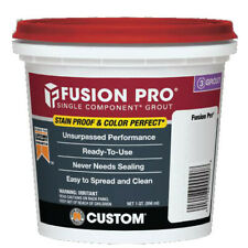 Custom Fusion Pro Single Component Grout FP122QT-4 #122 Linen 1 Quart