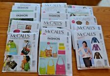 McCall's Sewing Patterns Jacket Skirt Blouse Totes Accessories Dress Uncut