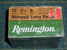 "REMINGTON 12ga MLR12-6 2¾"" 3¾dr 1¼oz #6 Mohawk Long Range Shotshell Ammo Box  #2"