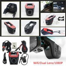 HD 1080P Hidden Mini Wifi Dual Lens Car DVR Camera Video Recorder Night