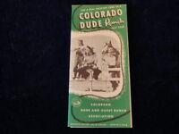 Vintage 1953 Colorado Dude and Guest Ranch Travel Brochure Q385
