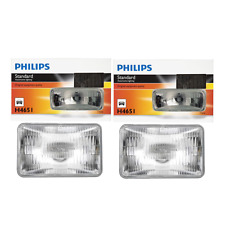 2 PCS Philips Headlight Bulb For 1976-1989 Buick Electra High Beam Lamp