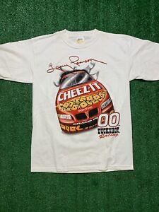 Vintage 90s Rare Nascar Buckshot Cheezit Nascar Racing T Shirt Larry Pearson 00