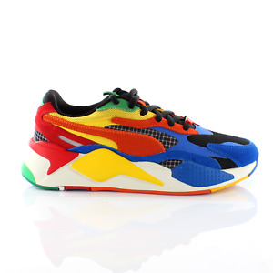 Puma RS-X3 RUBIK'S Cube Multicoloured Low Lace Up Mens Trainers 373428 01