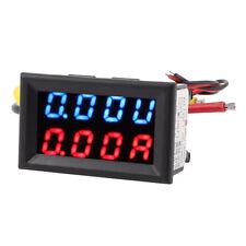 DC 0-100V 20A Azul Rojo LED 4.8cm Digital Panel Voltimetro Amperimetro Volt D5N2