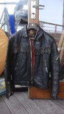 VINTAGE BELSTAFF Giacca Biker in Pelle Moto ARGENTO CERNIERE nero Taglie XS-S?