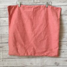 Single Ralph Lauren Soft Red Twill Weave Rl Logo Euro Pillow Sham
