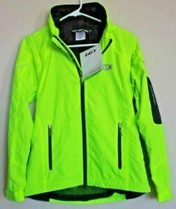 Louis Garneau Light Vento Cycling Jacket Women's Size S Neon Yellow