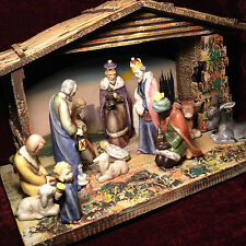 Antique European Nativity Scene - Beautifully hand-painted!