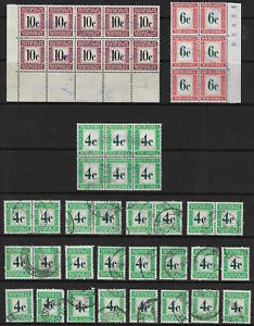 South Africa 1961 Postage Due Decimals 4c, 6c & 10c Used
