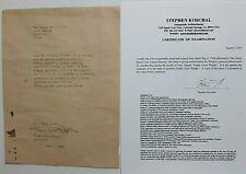 FRANK LLOYD WRIGHT IMPORTANT LETTER SIGNED TO GABLES BEACH CLUB SANTA MONICA