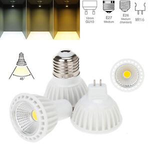 15W LED Dimmable COB Spotlight Bulbs E27 MR16 GU10 220V 12V Lamp