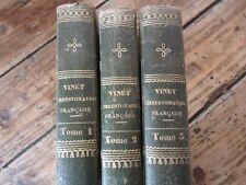 CHRESTOMATHIE FRANCAISE 3/3 VOL ETUDE TEXTE ANCIENS VINET EDITION ORIGINALE 1829