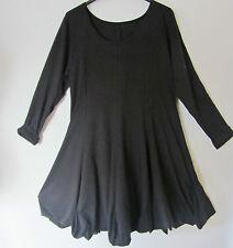 BORIS INDUSTRIES irres Ballon Kleid Lagenlook Baumwolle schwarz Gr. 48 (5)