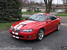 "pontiac  GTO 6"" Plain Rally Stripe Set Stripes Decals Also Fit G8 & G6"