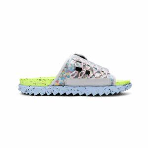 Nike Asuna Crater Slide 'Volt' Platinum Tint DJ4629-001 AUTHENTIC NWT