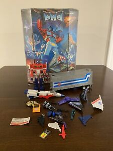 Vintage Transformers Jumbo Collectors Case W/ Optimus Prime Toy & Accessories