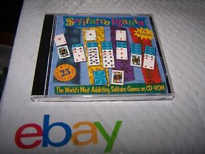 Solitaire Mania 25 Games CD for Macintosh P/N 06SMM-01 - 1996