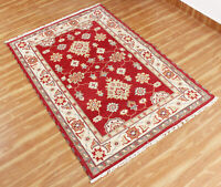 Indian Handmade Wool Traditional Carpet Red Rug Hand Knotted Area Rugs 5x8