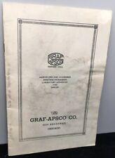 Vintage 1944 Graf Apsco Microscope Catalog