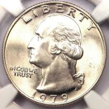 1979 Washington Quarter 25C - NGC MS67 - Rare Date in MS67 Grade - $375 Value!
