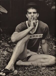 1990s Vintage BRUCE WEBER Handsome Young Man Male Body Model Photo Gravure 11X14