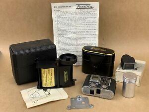 Tessina 35 Black Vintage Subminiature Camera - Gorgeous Complete Set