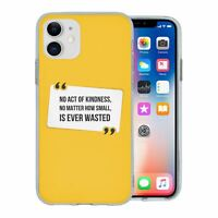 For Apple iPhone 11 Silicone Case Peace Yellow Quote - S1781