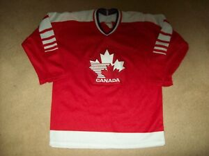 TEAM CANADA VINTAGE '80's OLYMPIC CCM MASKA HOCKEY JERSEY NR*