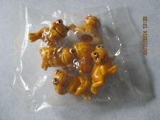 6 verschiedene gelbe Frösche Komplettsatz original verpackt  1a