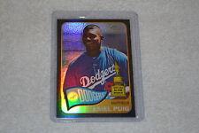 YASIEL PUIG 2014 Topps Heritage RARE serial number 43/65 Black Refractor Dodgers