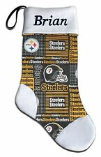 Personalized NFL Pittsburgh Steelers Football Christmas Stocking Embroidered