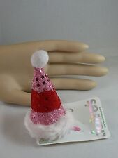 Claire's Christmas Hair Hat Clip Multi Color Bling Santa's Helper  USA SELLER