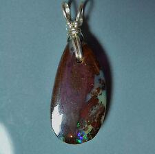 Pendentif argent Opale Boulder Koroit Australie 11.6ct VIDEO Opal silver pendant