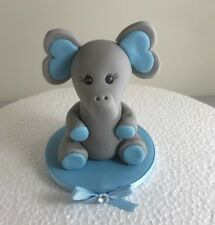 Handmade Edible Fondant elephant Model cake Toppers Girls Baby's christ Birthday