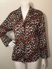 BETSEY JOHNSON Pajamas PJ's Intimates M black brown white leopard animal print