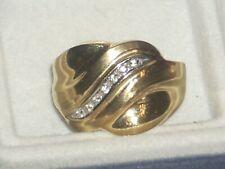 10kt  Round Diamond Tapered Band Ring Sz 8