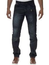Indigo, Dark wash Mid Rise Tapered ETO Jeans for Men